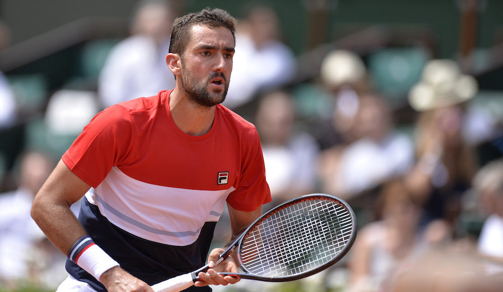 Marin Cilic in the second round of Roland Garros, 2018