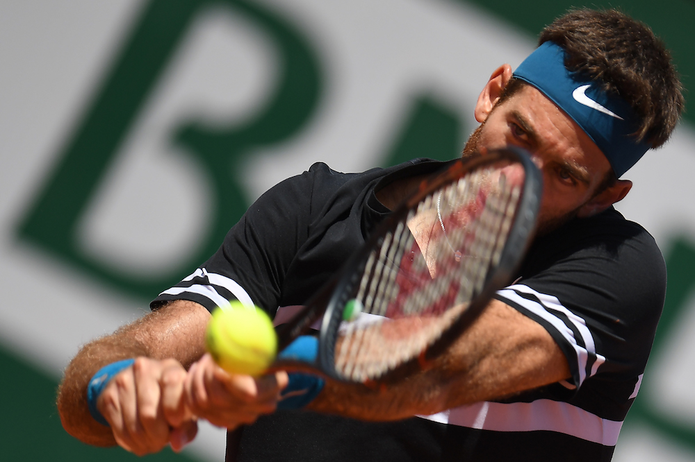Juan Martin Del Potro in the quarter-final of Roland Garros, 2018