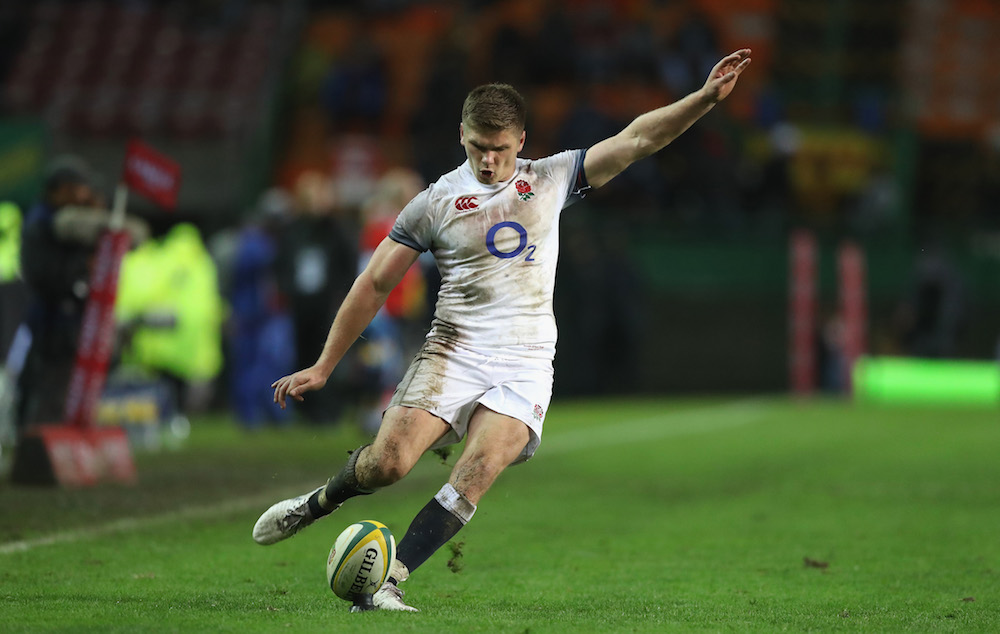 Owen Farrell in the final test between South Africa and England, 2018