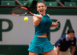 Simona Halep in the fourth round of Roland Garros, 2018