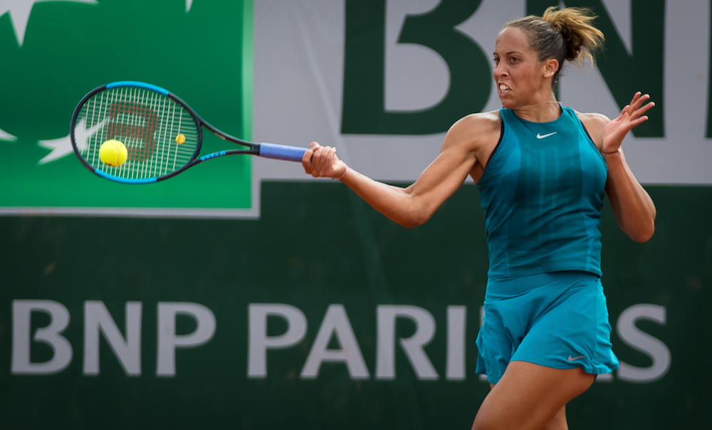Madison Keys in the second round of Roland Garros, 2018