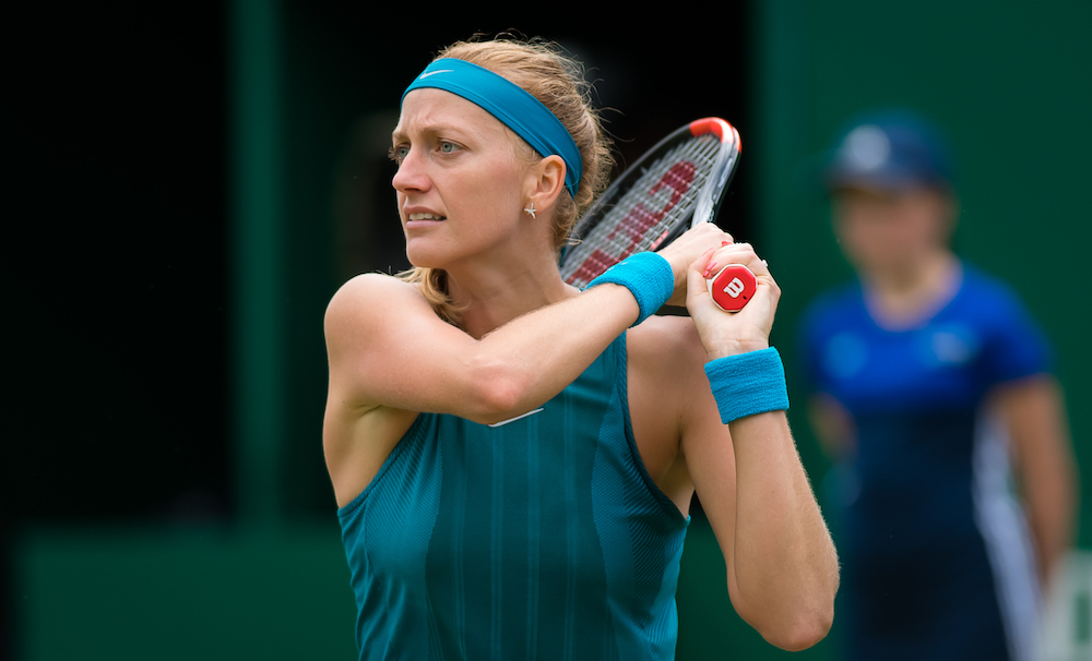 Petra Kvitova in the second round of the Nature Valley Classic, WTA Birmingham 2018