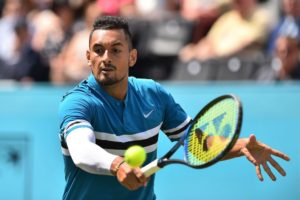 Nick Kyrgios in the second round of the Fever-Tree Championships, ATP Queen's Club 2018