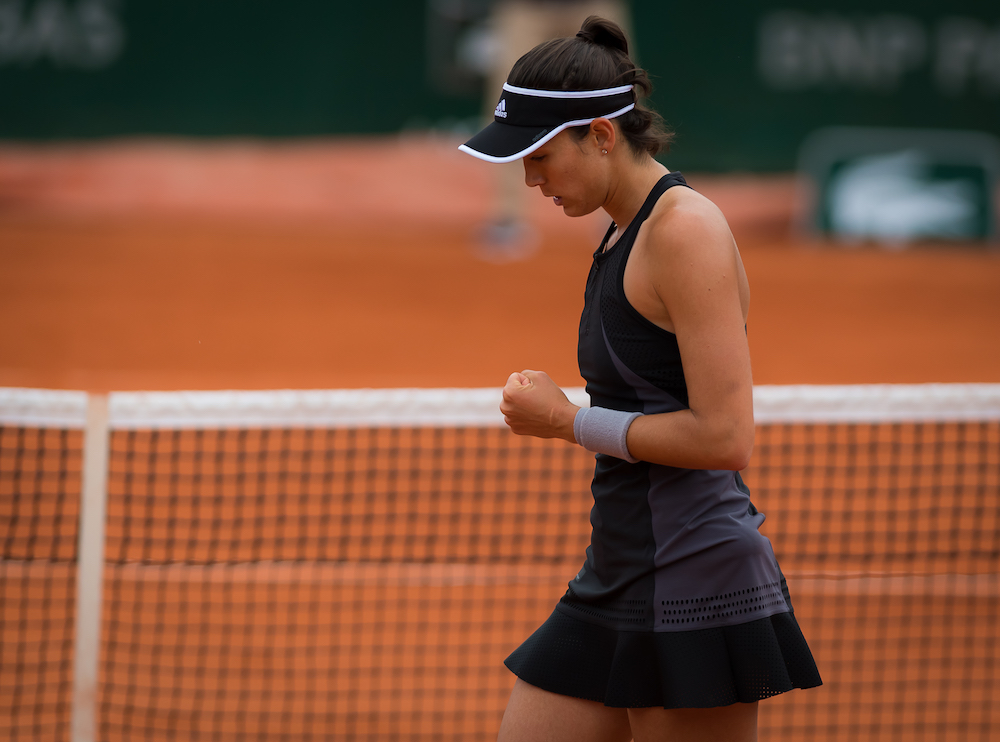 Garbine Muguruza in the first round of Roland Garros, 2018