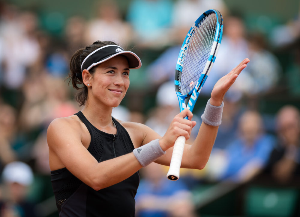 Garbine Muguruza in the third round of Roland Garros, 2018