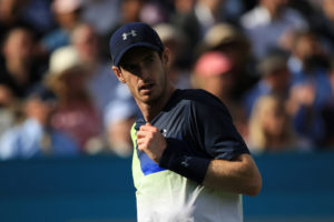 Andy Murray in the first round of the Fever-Tree Championships, ATP Queen's Club 2018