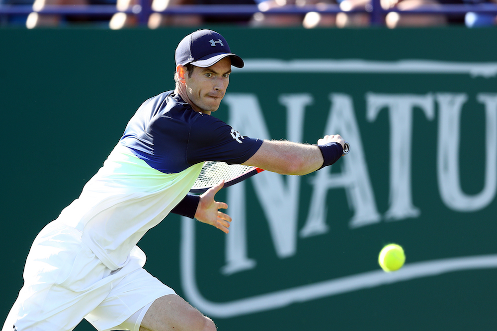 Andy Murray in the first round of the Nature Vallye International, ATP Eastbourne 2018