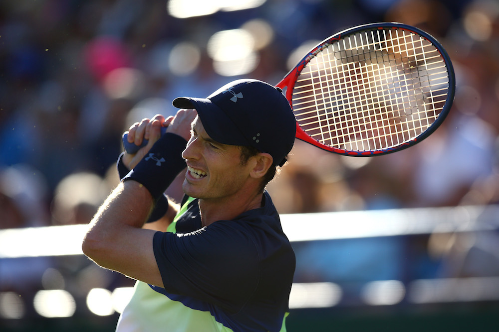 Andy Murray in the second round of the Nature Valley International, ATP Eastboune 2018