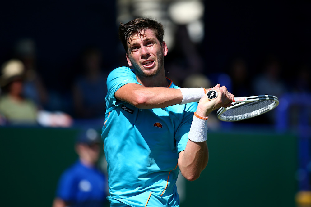 Cameron Norrie in the second round of the Nature Valley International, ATP Eastbourne 2018