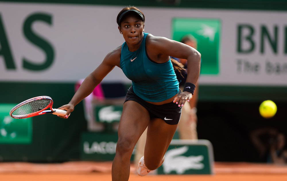 Sloane Stephens in the semi-final of Roland Garros, 2018