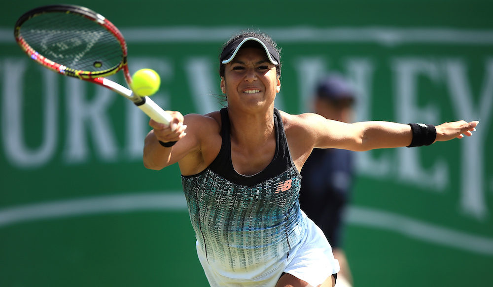 Heather Watson in the second round of the Nature Valley Open, WTA Nottingham 2018