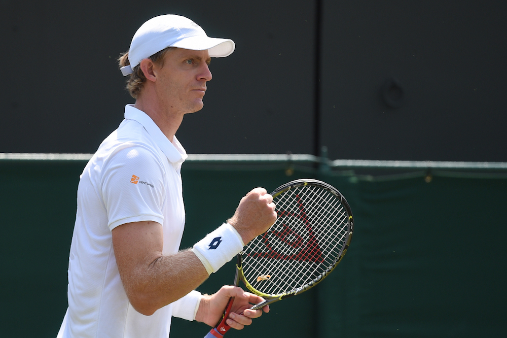 Kevin Anderson in the third round of Wimbledon 2018