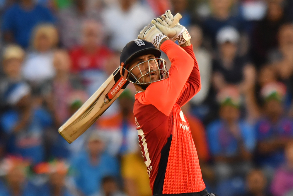 Alex Hales in the International T20 match between England & India, 2018