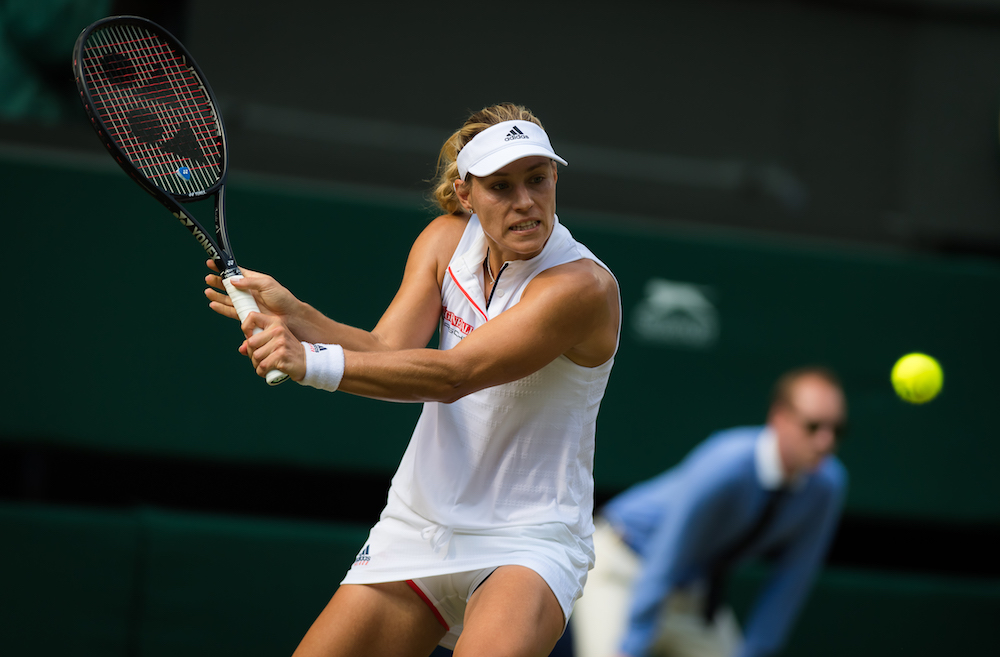 Angelique Kerber in the third round of Wimbledon 2018