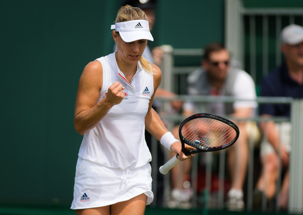 Angelique Kerber in the second round of Wimbledon 2018