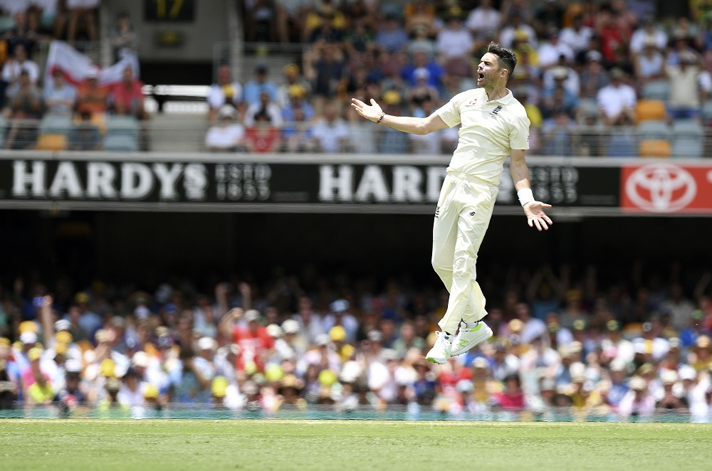 James Anderson during the Ashes tour in Australia, 2017
