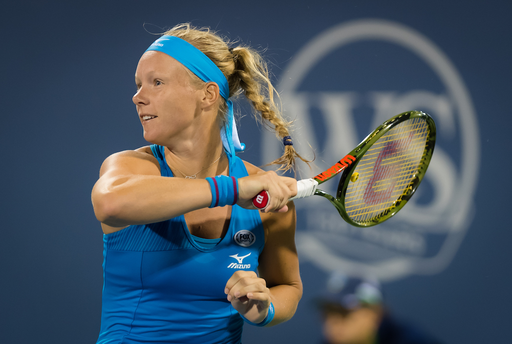 Kiki Bertens in the second round of the Western & Southern Open, WTA Cincinnati 2018