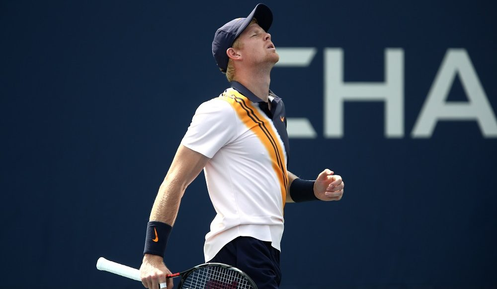 Kyle Edmund in the first round of the US Open, New York 2018