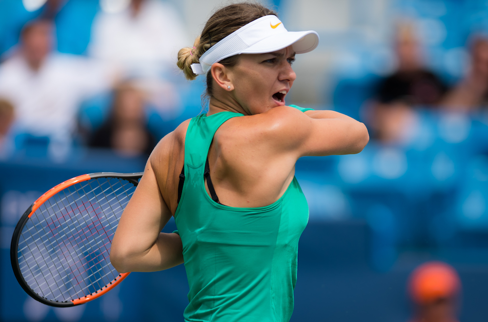 Simona Halep in the second round of the Wetern & Southern Open, WTA Cincinnati 2018