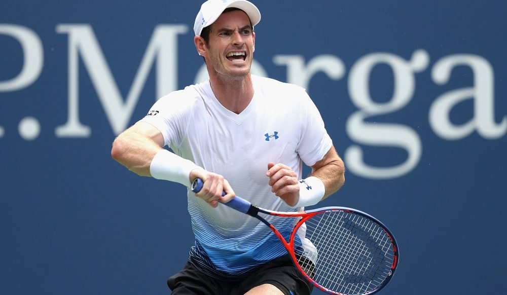 Andy Murray in the first round of the US Open, New York 2018