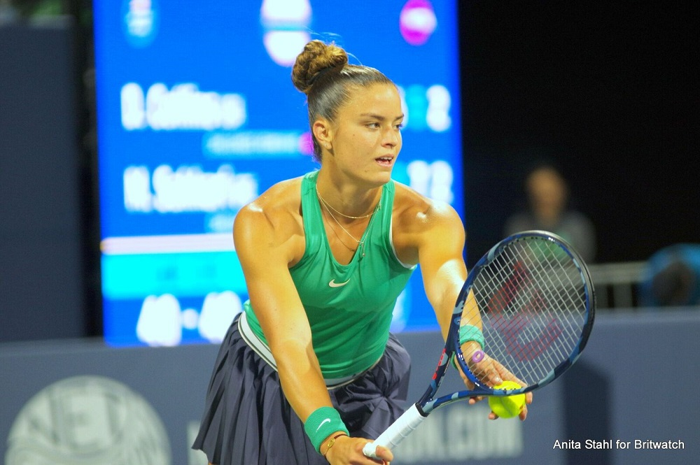 Maria Sakkari in the semi-final of the Mubadala Silicon Valley Classic, WTA San Jose 2018