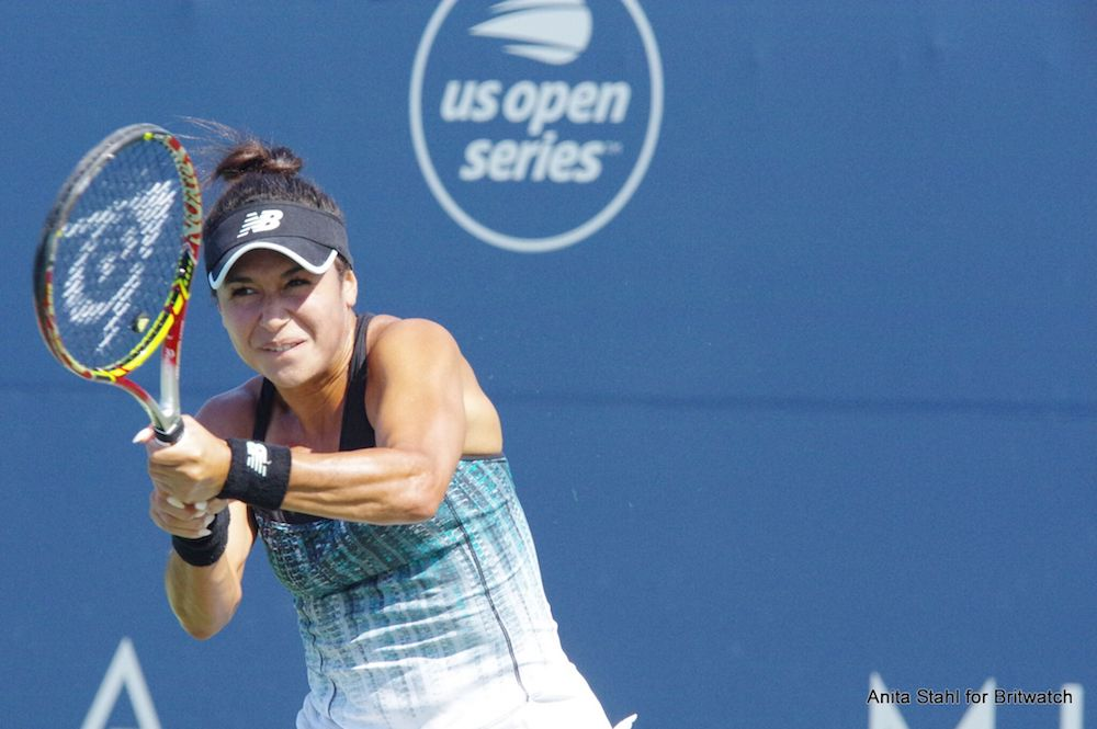 Heather Watson in the first round of the Mubadala Silicon Valley Classic, WTA San Jose 2018