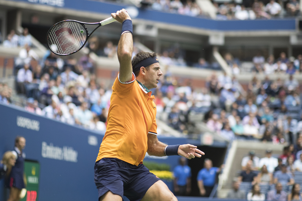 Juan Martin Del Potro in the semi-final of the US Open, New York 2018