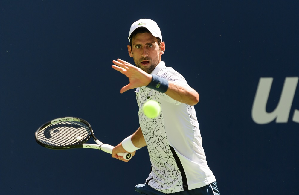 Novak Djokovic in the fourth round of the US Open, New York 2018