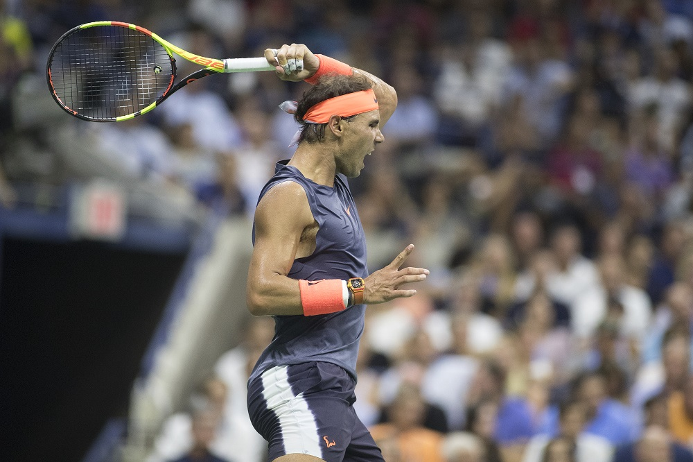Rafael Nadal in the quarter-finals of the US Open, New York 2018
