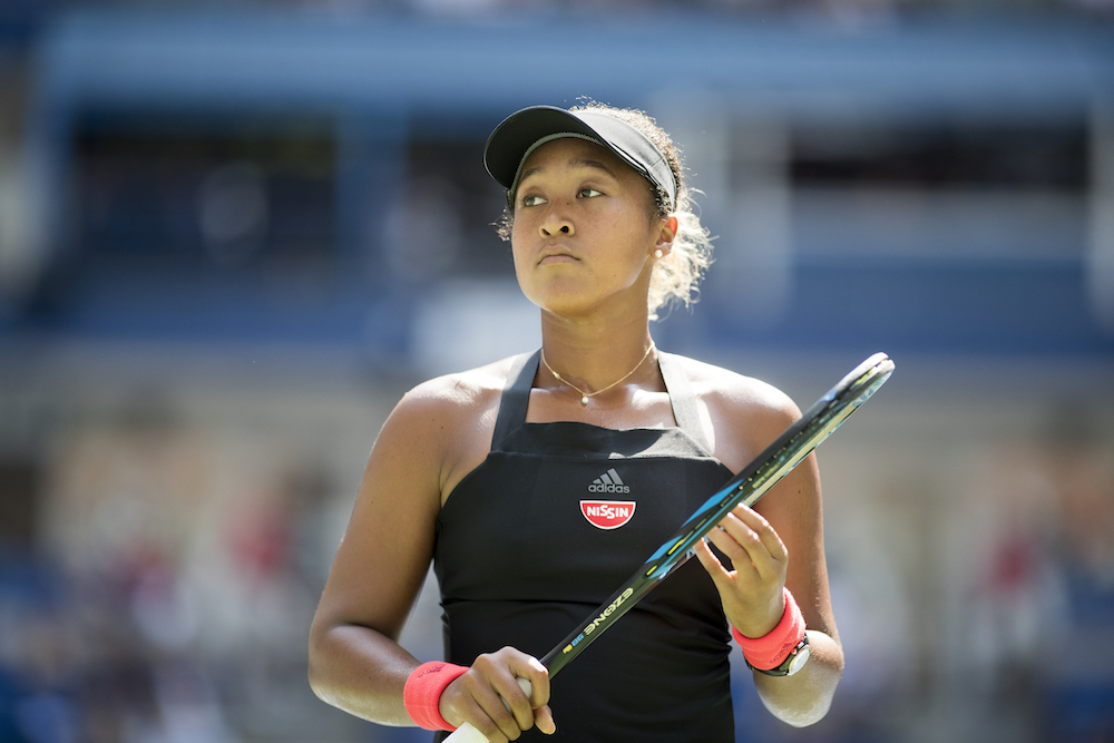 Naomi Osaka in the quarter-final of the US Open, New York 2018