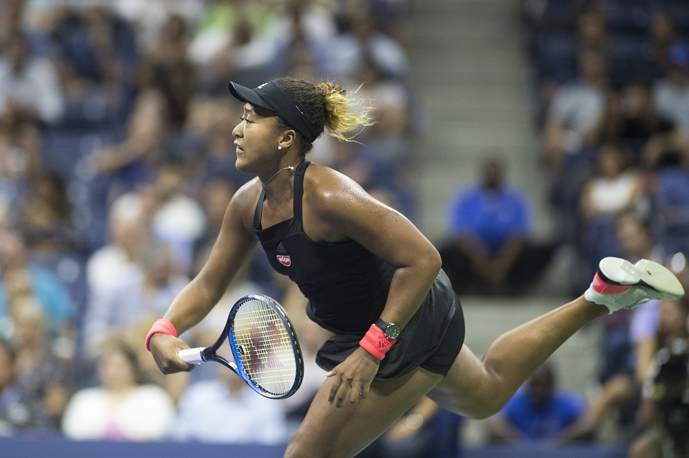 Naomi Osaka in the semi-final of the US Open, New York 2018