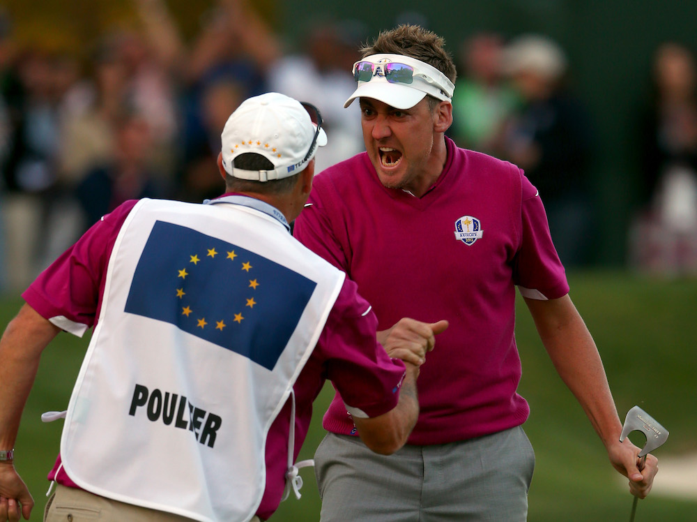 Ian Poulter in the 2012 Ryder Cup