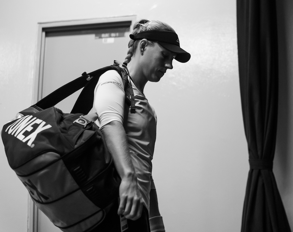 Angelique Kerber in the third round-robin match in the WTA Finals 2018, Singapore
