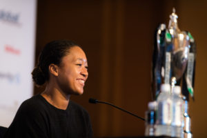Naomi Osaka in the All-Acess media day at the WTA Finals, Singapore 2018