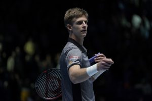 Kevin Anderson in the first round-robin match at the Nitto ATP World Tour Finals 2018, London