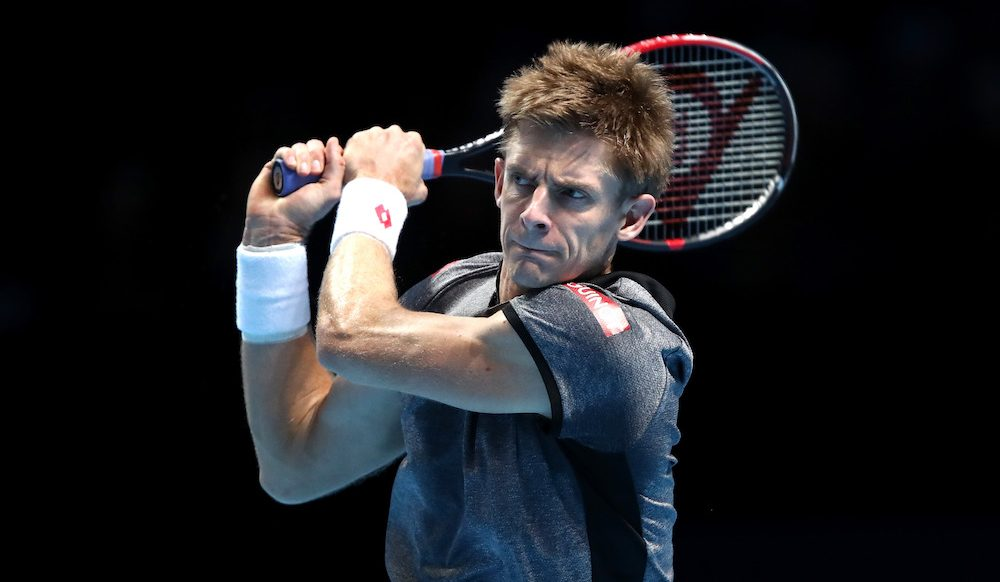 Kevin Anderson in the second round-robin match at the ATP World Tour Finals 2018, London
