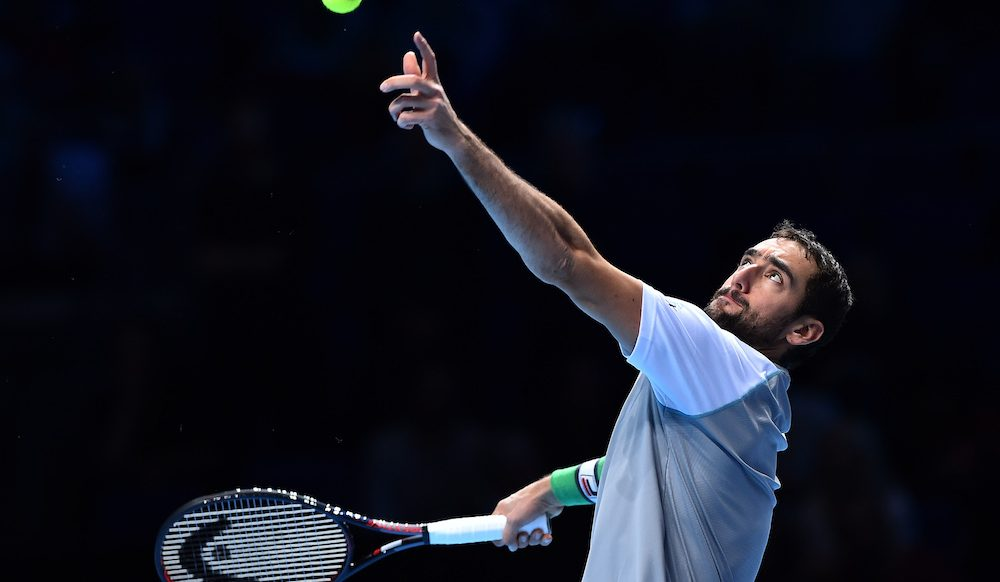 Marin Cilic in the first round-robin at the ATP World Tour Finals 2018, London