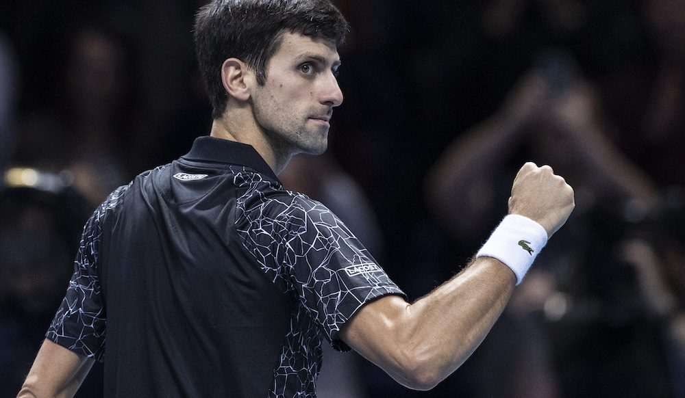 Novak Djokovic in the semi-final of the ATP World Tour Finals 2018, London