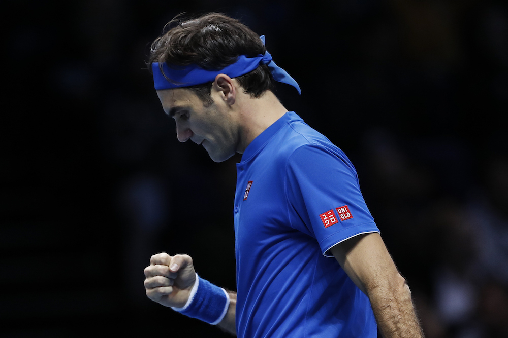 Roger Federer in the first round-robin of the ATP World Tour Finals 2018, London