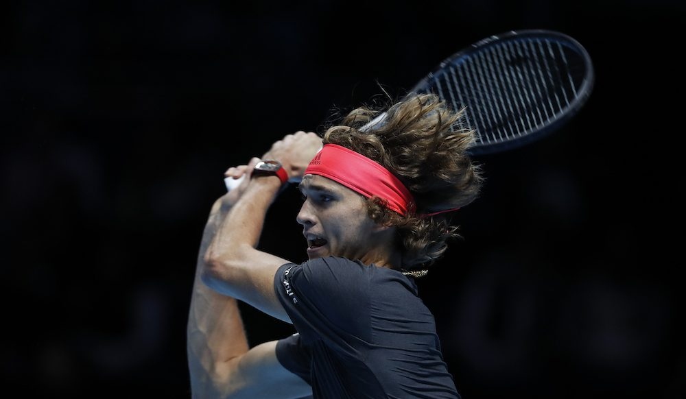 Alexander Zverev in the second round-robin match at the ATP World Tour Finals 2018, London