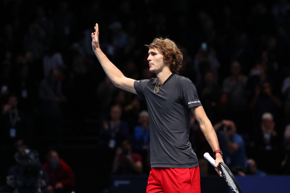 Alexander Zverev in the semi-finals of the ATP World Tour Finals 2018, London