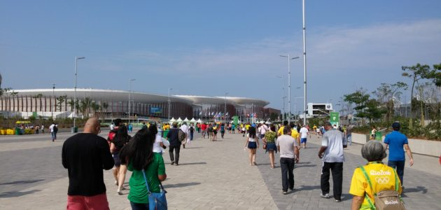 Arriving at Barra Olympic Park
