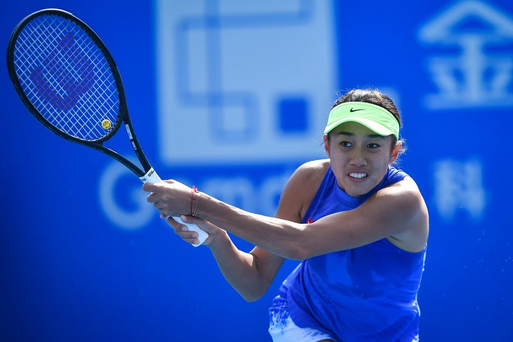 Zhang Shuai at the Shenzhen Open, WTA Shenzhen 2018