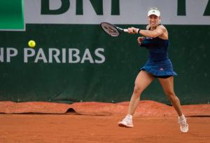 Angelique Kerber in the second round at Roland Garros, 2018
