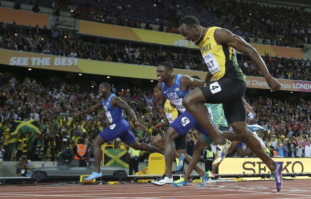 Usain Bolt, Christian Coleman, Justin Gatlin, IAAF World Athletics Championships, London 2017