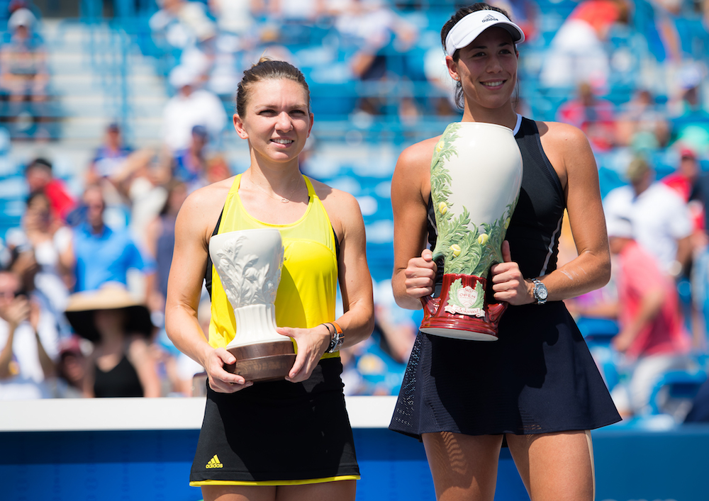 Garbine Muguruza, Simona Halep at the Western & Southern Open, WTA CIncinnati 2017
