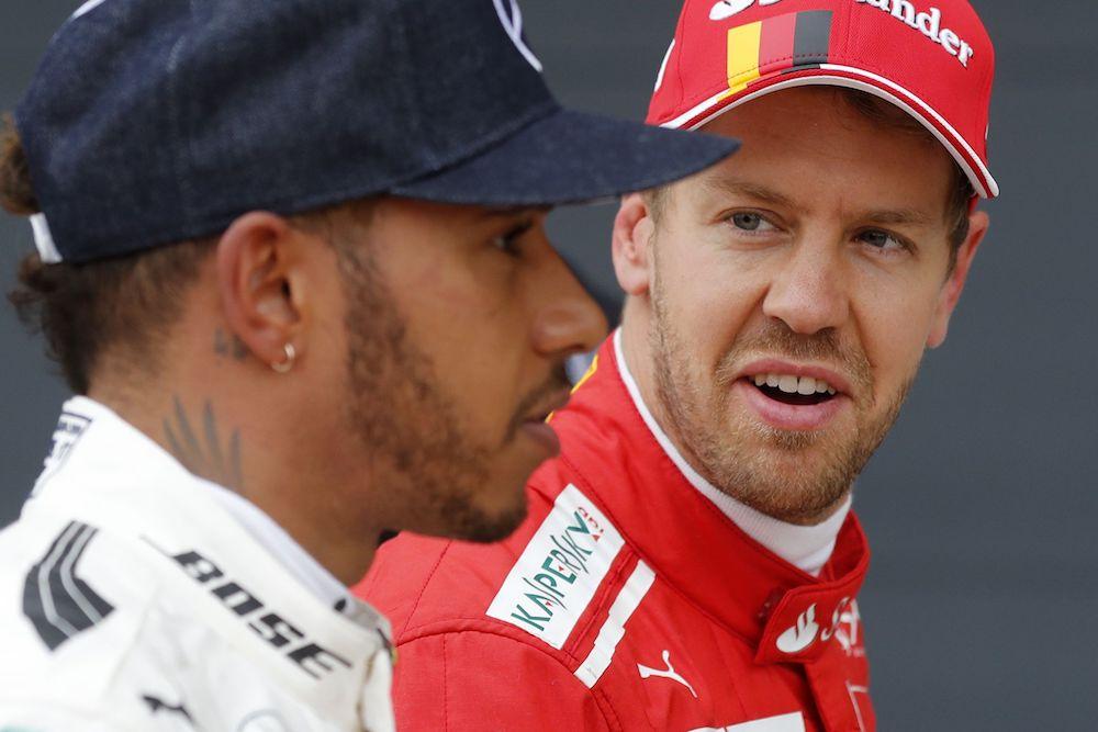 Sebastian Vettel, Lewis Hamilton GB Grand Prix 2017