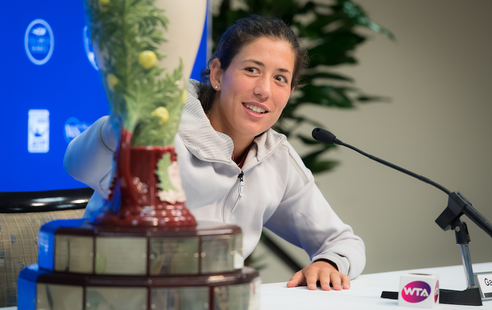 Garbine Muguruza after winning the 2017 Western & Southern Open, WTA CIncinnati 2017