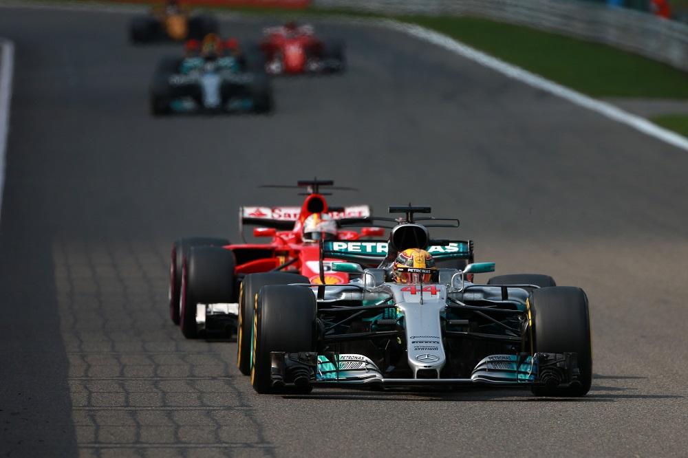 Lewis Hamilton, Sebastian Vettel Spa 2017