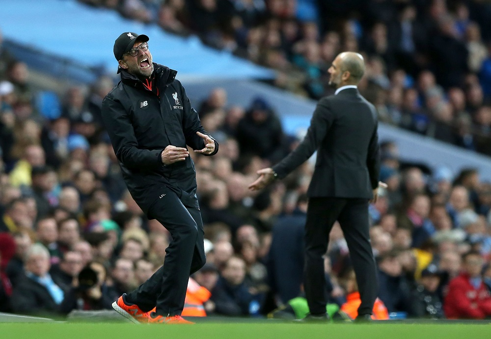 Jurgen Klopp, Pep Guardiola, Etihad Stadium 2017, English Premier League